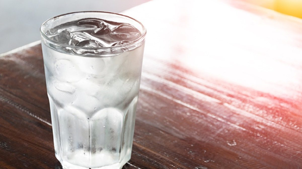 drinking cold water