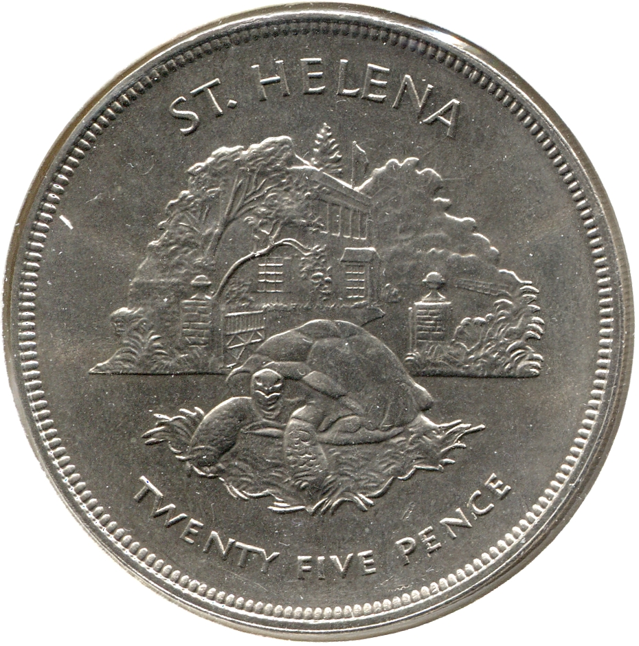 Jonathan is on the opposite side of the 25-pence Helena coin